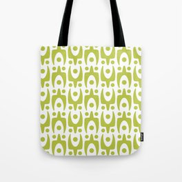 Mid Century Modern Abstract Pattern 541 Olive Green Tote Bag