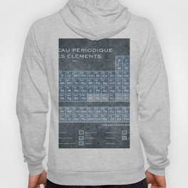 Tableau Periodiques Periodic Table Of The Elements Vintage Chart Blue Hoody