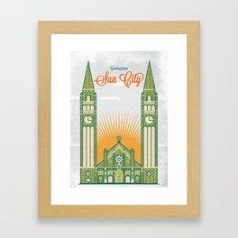 Greetings from Sun City! Framed Art Print