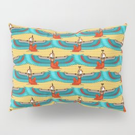 Isis and Nephtys - Turquoise and yellow Pillow Sham