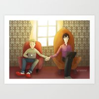 johnlock Art Prints featuring Johnlock by il cielo capovolto