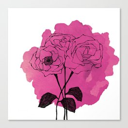 spray roses Canvas Print