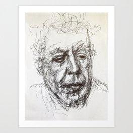 Anthony bourdain sketch Art Print