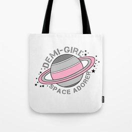 Demi-Girl Space Adorer Tote Bag