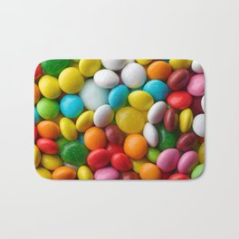 Multicolored round candies Bath Mat