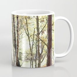 Leaves, Grass and gate lead to Walt Whitman of course Coffee Mug