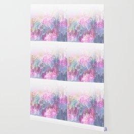 Magical Nature - Glitch Pink & Blue Wallpaper