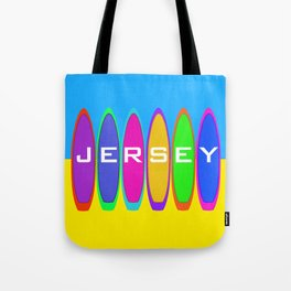 Jersey Surfboards on the Beach Tote Bag