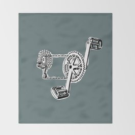 pedals Throw Blanket