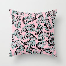 Pop Leaves Throw Pillow