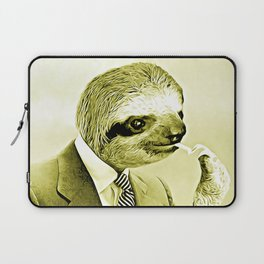 Gentleman Sloth lighting a cigarette Laptop Sleeve