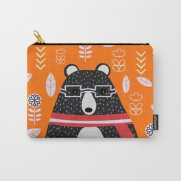 Bear in floral rain Carry-All Pouch