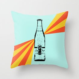 Chill Out Sparkling Water Retro  Throw Pillow