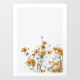An orange flower party Art Print