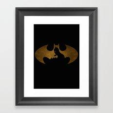 The dark man Framed Art Print