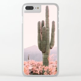 Vintage Cactus Clear iPhone Case