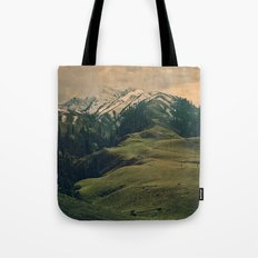 Spider mountain Tote Bag