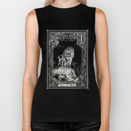 STRENGTH of Tarot Cat Biker Tank
