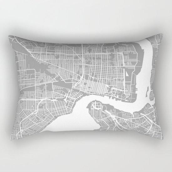 Jacksonville map grey Rectangular Pillow