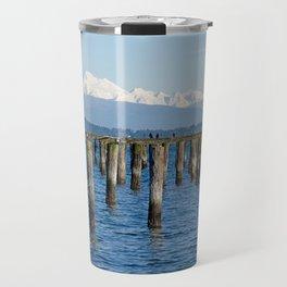 MOUNT BAKER KOMA KULSHAN AND OLD PILINGS  Travel Mug