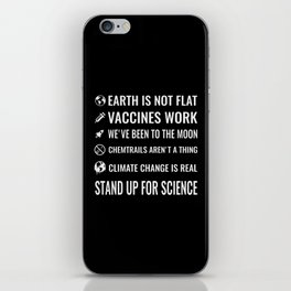 Stand up for science iPhone Skin