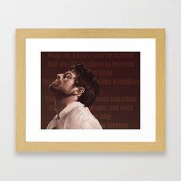 Castiel. Tightrope Framed Art Print