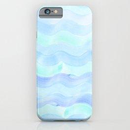 Water Color Ocean Wave Aqua iPhone Case