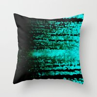 teal Throw Pillows featuring Teal  by 2sweet4words Designs
