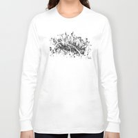 paris Long Sleeve T-shirts featuring PARIS by Nicksman