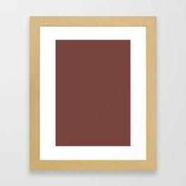 Medium Tuscan red Framed Art Print