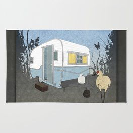 Travel Trailer Sandhill Crane Rug