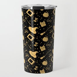 Magic symbols (black) Travel Mug