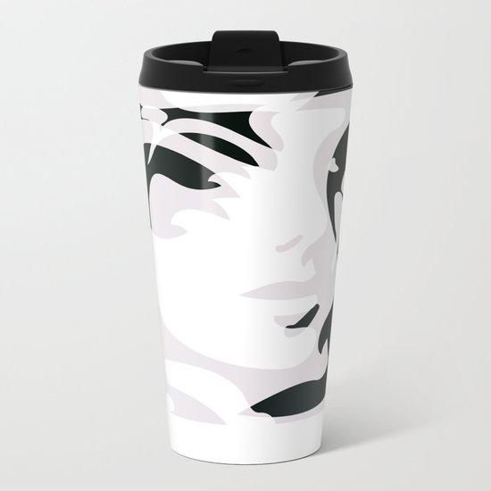 Hidden Faces Metal Travel Mug