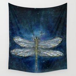 Interstellar Dragonfly Wall Tapestry