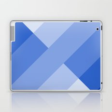 Blue and white angled Gradient Laptop & iPad Skin