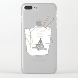 NICE TAKEOUT Clear iPhone Case