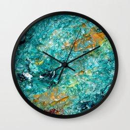 """Leprechaun's Koi Pond"" Painting Wall Clock"