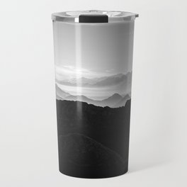 Mountains in the morning mist Travel Mug