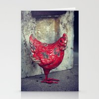 chicken Stationery Cards featuring Chicken by KunstFabrik_StaticMovement Manu Jobst