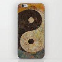 yin yang iPhone & iPod Skins featuring Yin Yang by Michael Creese