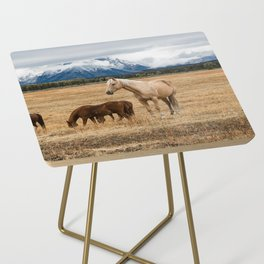 Mountain Horse - Western Style in the Grand Tetons Side Table