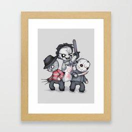 Horror Trifecta Plushie  Framed Art Print