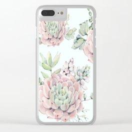 Pink Echeveria #society6 #buyart Clear iPhone Case