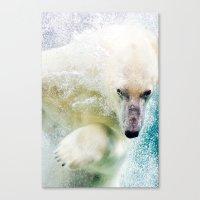 polar bear Canvas Prints featuring Polar Bear by Pati Designs