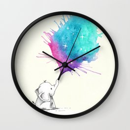 Littel Star Elephant Wall Clock