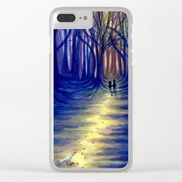 Hansel and Gretel in the Woods Clear iPhone Case