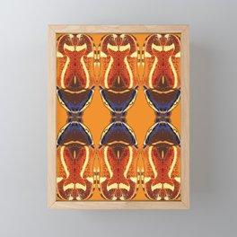Fiddler Beetle design by Chrissy Wild Framed Mini Art Print