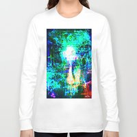 "hologram Long Sleeve T-shirts featuring "" The voice  is a second face"" by shiva camille"