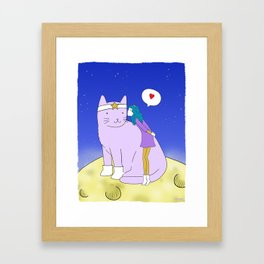 Kissing to Rita Jr. Framed Art Print