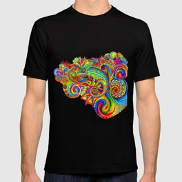 Psychedelizard Colorful Psychedelic Chameleon Rainbow Lizard T-shirt